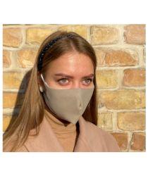 Daudzreiz lietojama antibaketriāla sejas maska - bēša