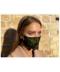 Daudzreiz lietojama antibaketriāla sejas maska - komuflāžas krāsa