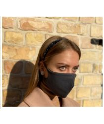 Daudzreiz lietojama antibaketriāla sejas maska - melna