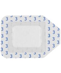 Plēves plāksteris ar saliņu, Curi-Med, sterils, 7 x6 cm