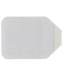 Plēves plāksteris ar rāmīti, Curi-Med, caurspīdīgs, sterils, 4,5 x 4,5 cm