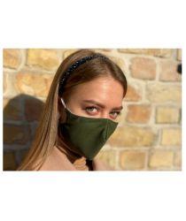 Daudzreiz lietojama antibaketriāla sejas maska - tumši zaļa