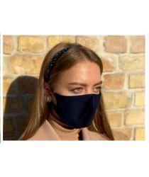 Daudzreiz lietojama antibaketriāla sejas maska - tumši zila
